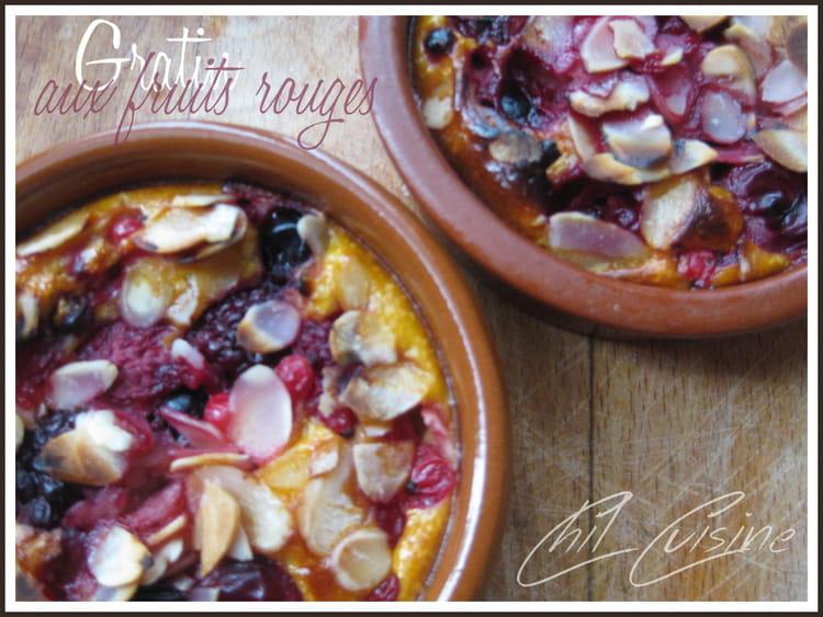 Recette de gratin de fruits rouges la vanille la - Gratin de fruits rouges ...
