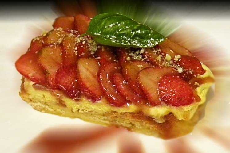 Brioche en pain perdu aux fraises