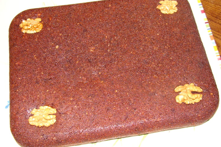 Brownies au chocolat, amandes et noix