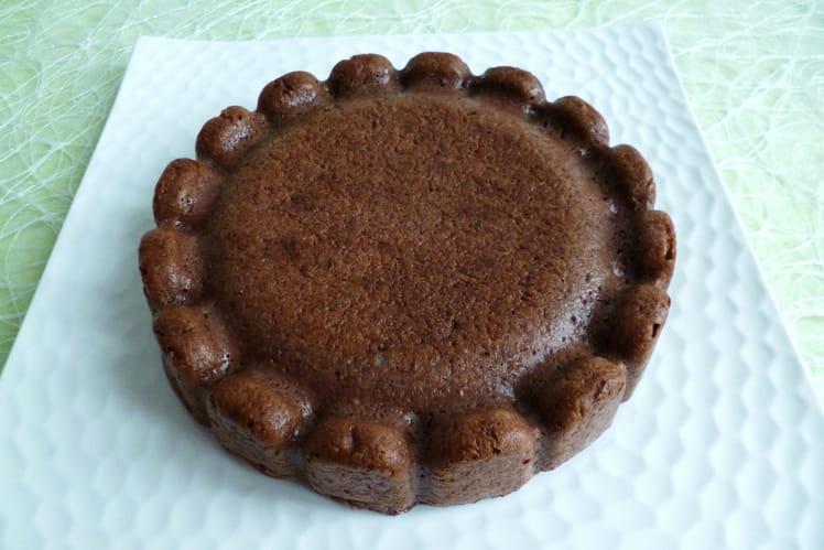Moelleux chocolat pommes épeautre châtaigne avec konjac, chia et lin