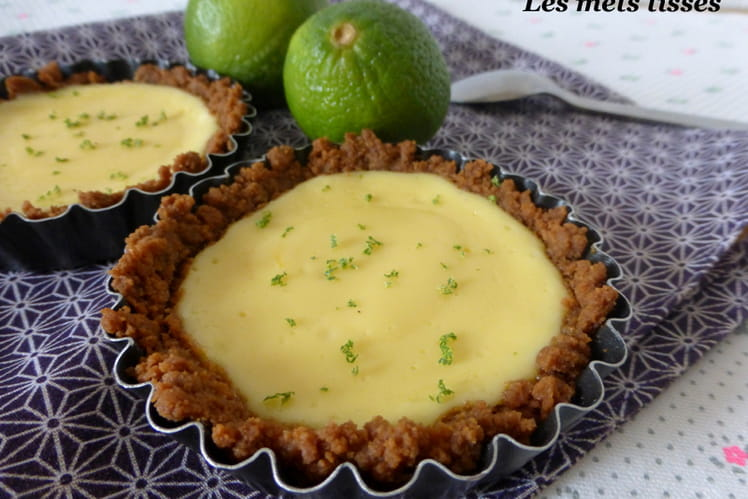 Tartelettes au citron vert et spéculoos