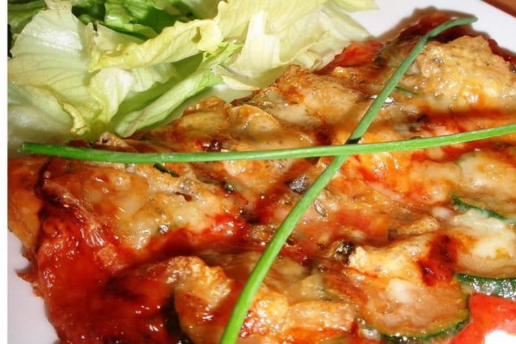 Tartelette tomate, courgette & gorgonzola