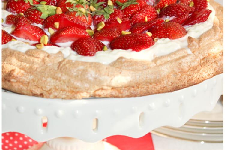 Tarte meringuée aux fraises