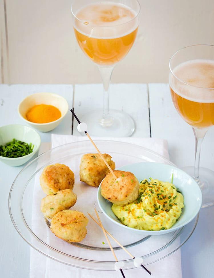 boulettes de poulet courgette ciboulette et fta et sauce crmeuse au cidre et curcuma - Boulette Papier Mariage