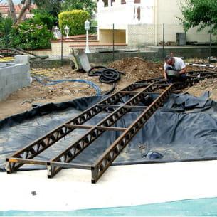 installation du bassin