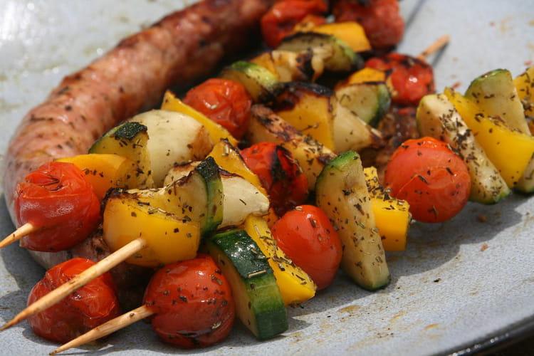 Recette de brochettes de l gumes marin s la recette facile - Legumes faciles a cuisiner ...