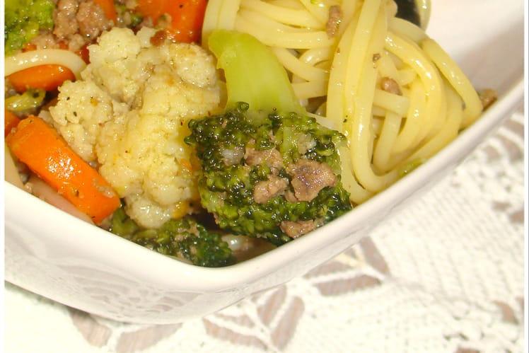 Spaghetti aux légumes d'hiver