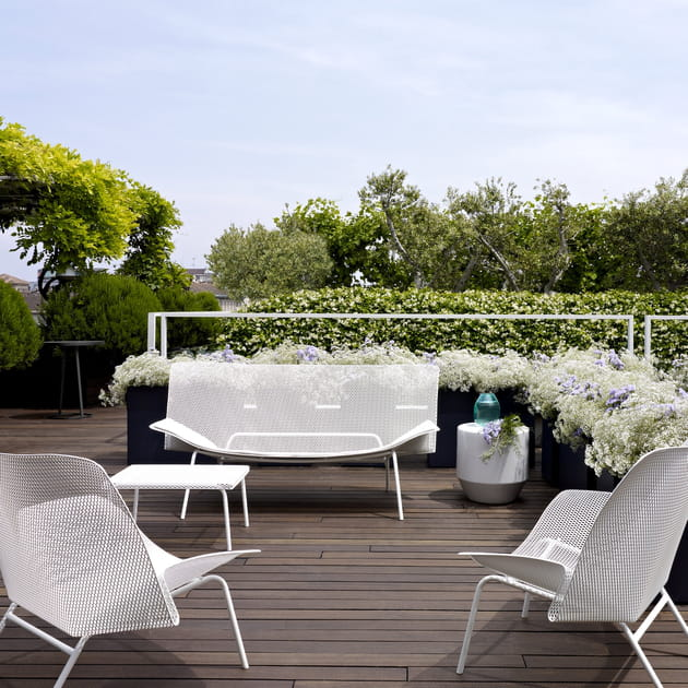 Salon de jardin grillage par fran ois azambourg pour cinna for Salon de jardin 200 euros