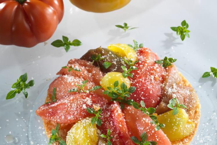 Tarte de tomates anciennes