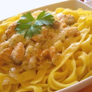 tagliatelles au saumon et au parmesan