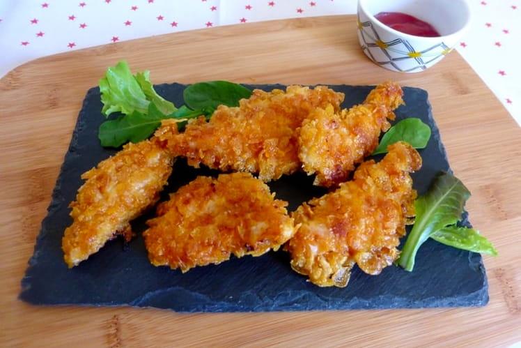 Poulet pané aux corn flakes façon nuggets du KFC