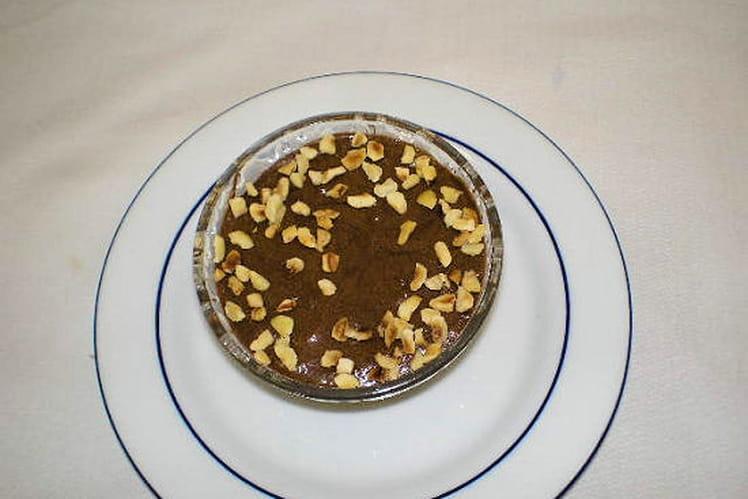 Mousse au chocolat et aux éclats de noisettes