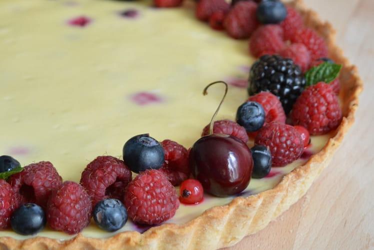 Tarte aux fruits rouges façon cheesecake
