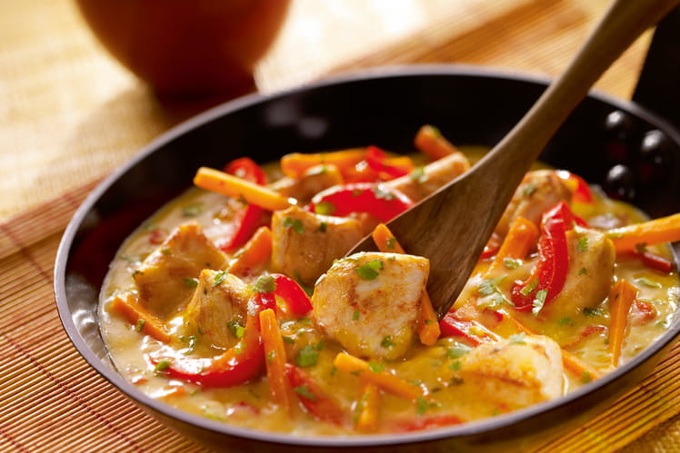 coco curry poulet