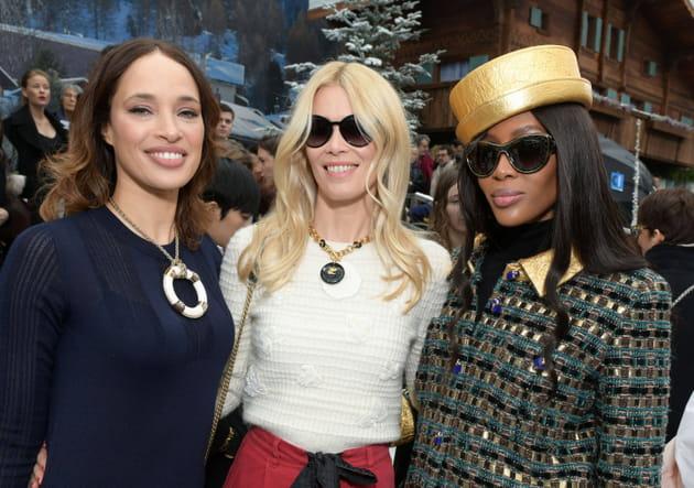 Brandi Quiniones, Claudia Schiffer and Naomi Campbell