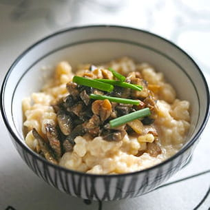 risotto au camembert de normandie et champignons de paris