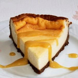 gâteau au fromage blanc et crème de calisson