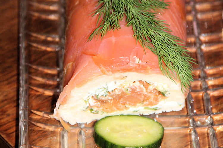 Bûche fraîcheur aux deux saumons