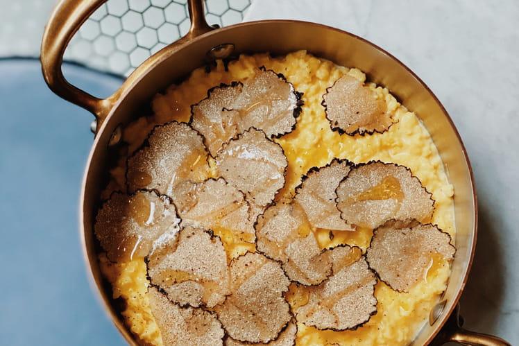 Brouillade d'œufs aux truffes par Amandine Chaignot