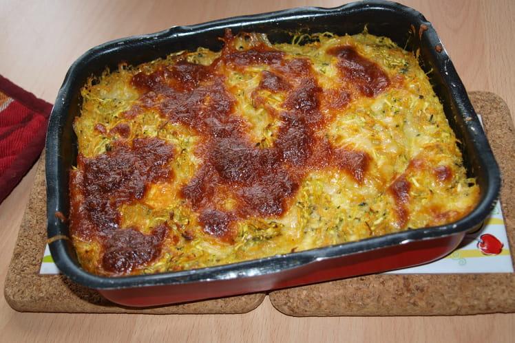 Gratin aux courgettes et patate douce