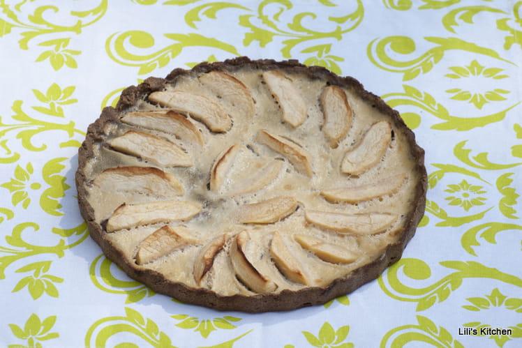 Tarte aux pommes sans gluten, sans oeuf et sans lactose