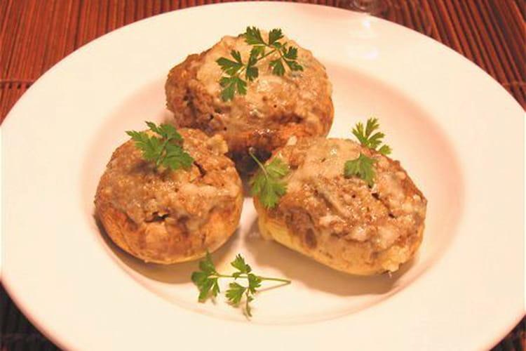 Champignons farcis et crème de gorgonzola