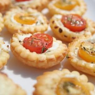mini tartelettes aux tomates cerise et au chèvre
