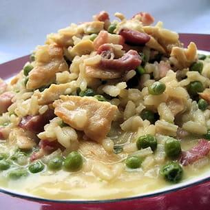 risotto au poulet