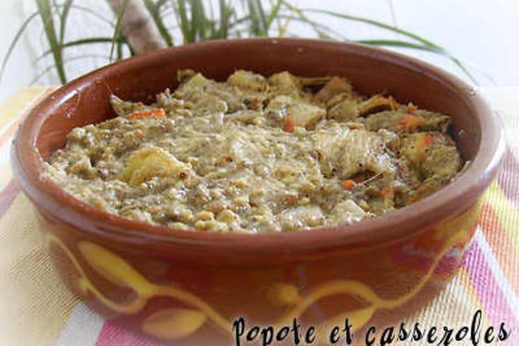 Crémeux de surimi aux asperges blanches
