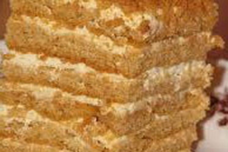 Génoise au miel et à la crème