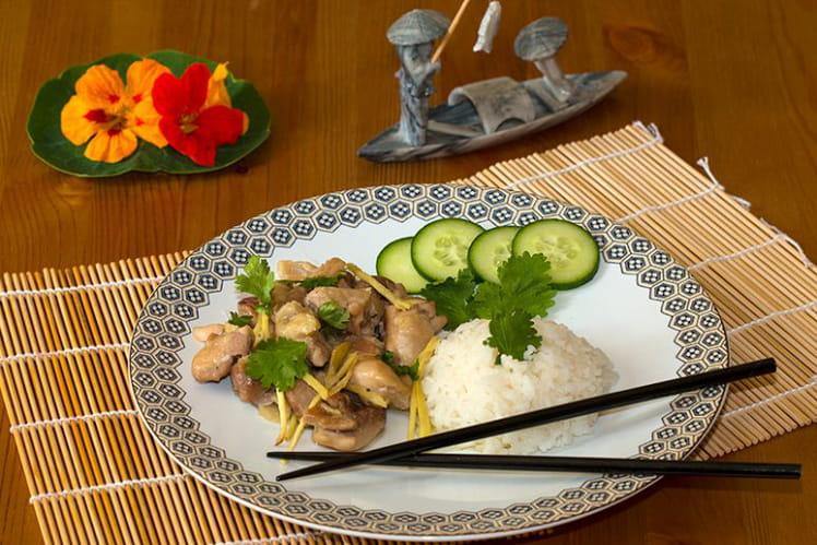 Poulet au gingembre vietnamien (Gà ram gừng)