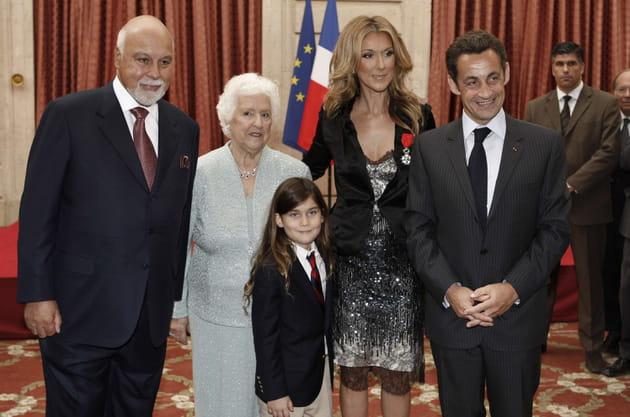 Avec Thérèse et le Président Sarkozy