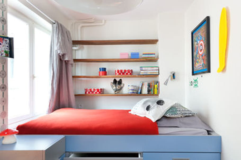 comment am nager un lit mezzanine pour enfant. Black Bedroom Furniture Sets. Home Design Ideas