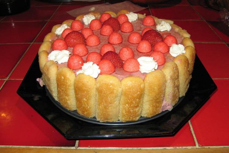 Charlotte fraises et fraises Tagada