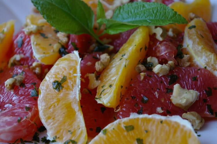 Salade d'oranges et de pamplemousses