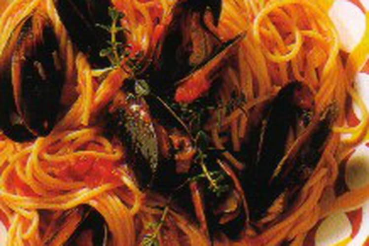 Spaghettis aux moules de Bouchot