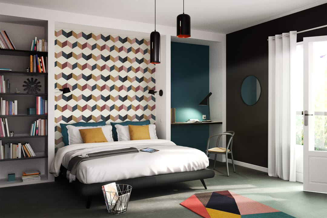 4 murs emmanuelle rivassoux signe une collection de papiers peints. Black Bedroom Furniture Sets. Home Design Ideas