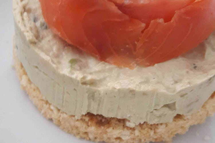 Cheesecake avocat saumon fumé