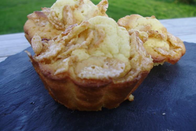 Muffins à la vanille et aux corn-flakes
