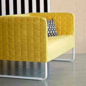 canap jaune knopparp d 39 ikea. Black Bedroom Furniture Sets. Home Design Ideas