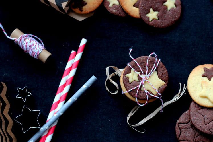 Biscuit de Noël étoilé vanille et chocolat