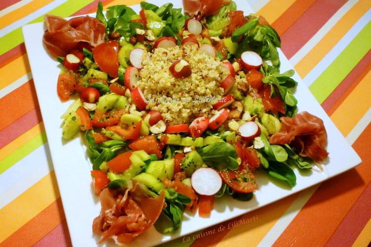Crudités, quinoa et jambon d'Auvergne