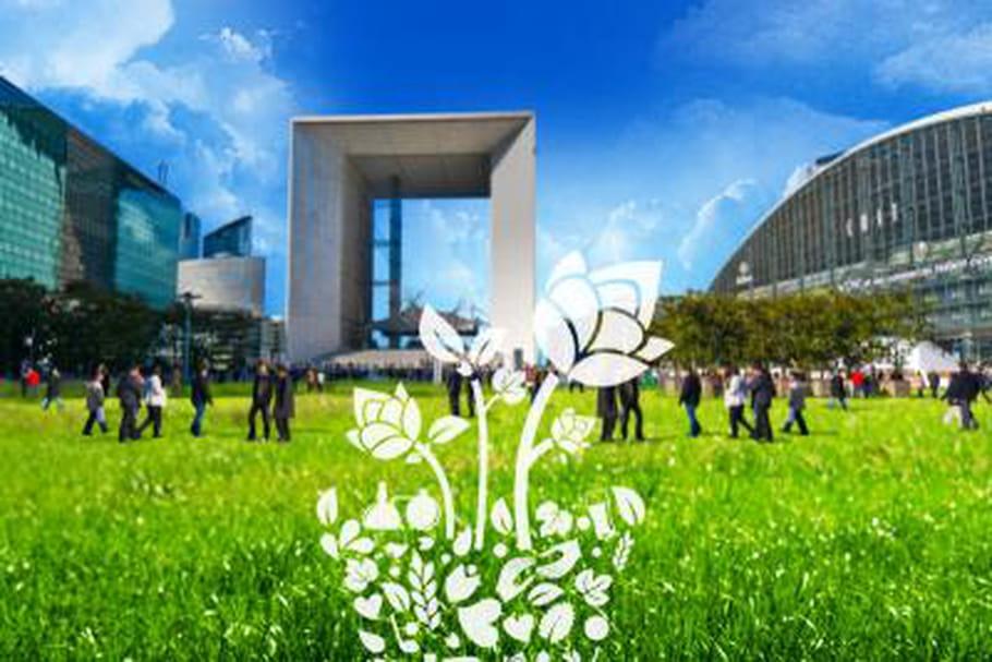Heineken installe son jardin éphémère à la Défense