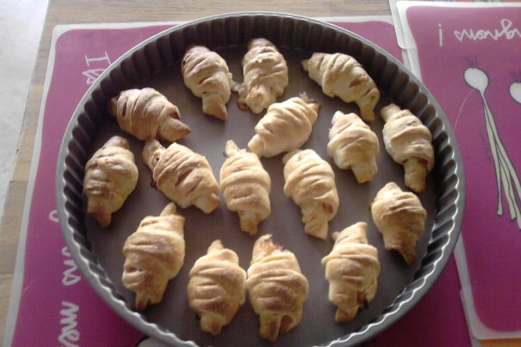 Croissants salés façon bouchées apéritives