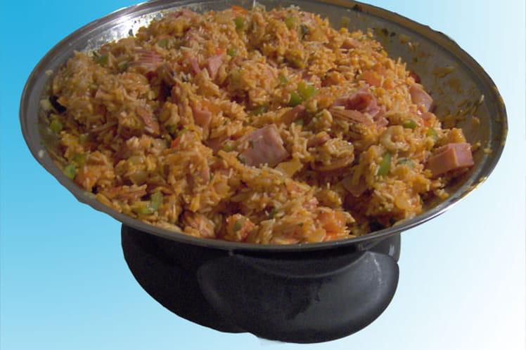 Jambalaya créole au wok
