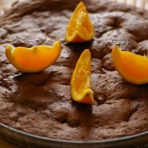 fondant au chocolat aux écorces d'oranges confites
