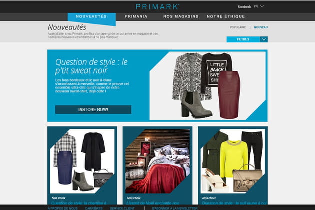 Le e-shop de Primark
