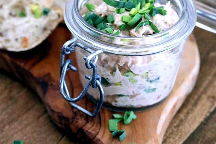 Rillettes de thon au vert du poireau