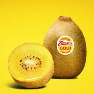 le kiwi 'gold' est une exclusivité de la marque zespri.