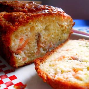 cake citronné au saumon fumé